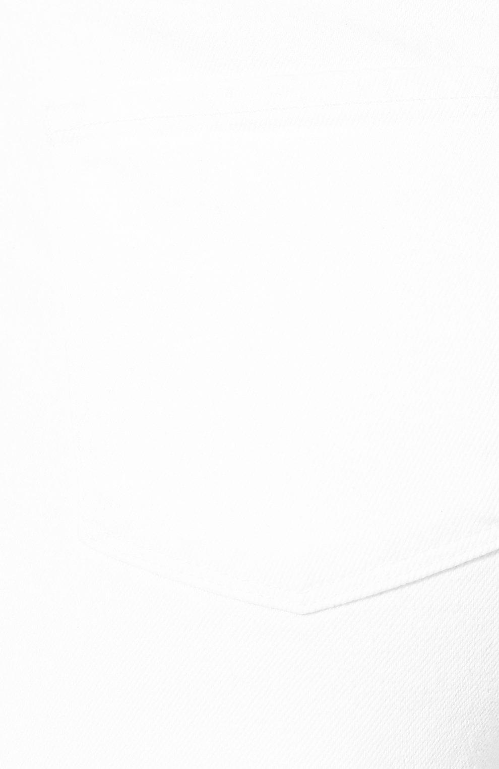 Женские джинсовые шорты J BRAND белого цвета, арт. JB002896 | Фото 5 (Женское Кросс-КТ: Шорты-одежда; Кросс-КТ: Деним; Длина Ж (юбки, платья, шорты): Мини; Материал внешний: Хлопок; Стили: Кэжуэл)