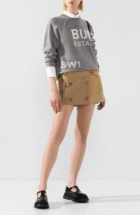 Женская шерстяной пуловер BURBERRY серого цвета, арт. 8028718 | Фото 2