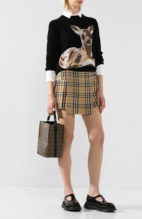 Женская шерстяной пуловер BURBERRY черного цвета, арт. 8026297 | Фото 2