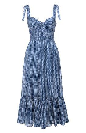 Женское хлопковое платье POLO RALPH LAUREN синего цвета, арт. 211793005 | Фото 1