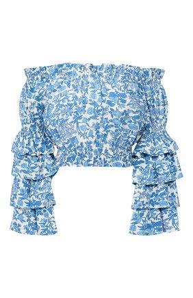 Женская топ из вискозы POLO RALPH LAUREN голубого цвета, арт. 211792731   Фото 1
