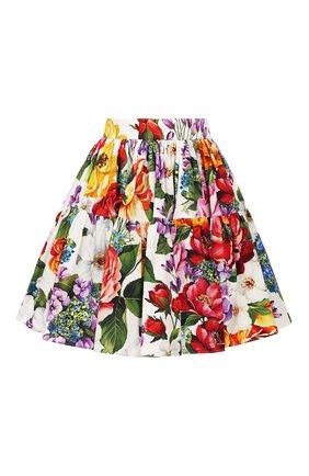 Женская хлопковая юбка DOLCE & GABBANA разноцветного цвета, арт. F4BIXT/HS5F9 | Фото 1