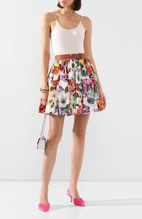 Женская хлопковая юбка DOLCE & GABBANA разноцветного цвета, арт. F4BIXT/HS5F9 | Фото 2