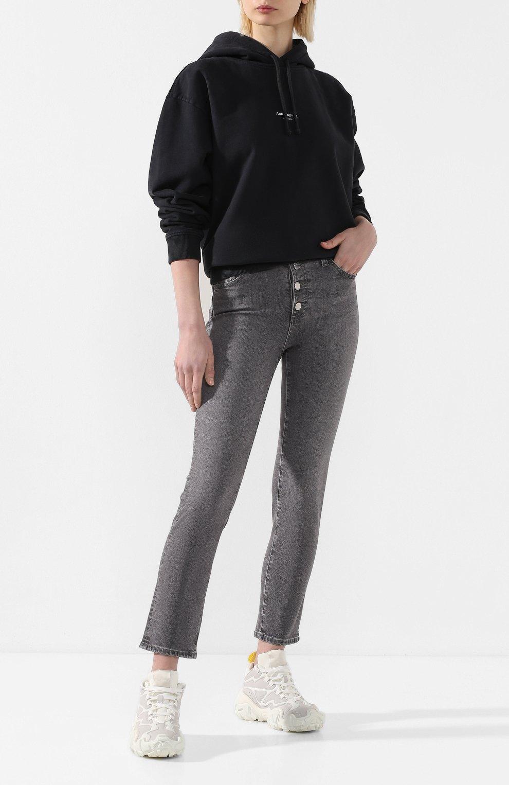 Женские джинсы AG серого цвета, арт. STS1782/ENTY   Фото 2
