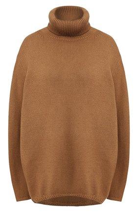 Женская шерстяной свитер PEFORGIRLS коричневого цвета, арт. PE.110.1922.09.23401.093 | Фото 1