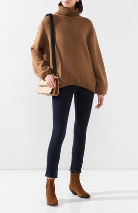 Женская шерстяной свитер PEFORGIRLS коричневого цвета, арт. PE.110.1922.09.23401.093 | Фото 2