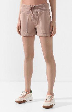 Женские хлопковые шорты JAMES PERSE розового цвета, арт. WACS4271 | Фото 3 (Женское Кросс-КТ: Шорты-одежда; Длина Ж (юбки, платья, шорты): Мини; Материал внешний: Хлопок; Стили: Спорт-шик)