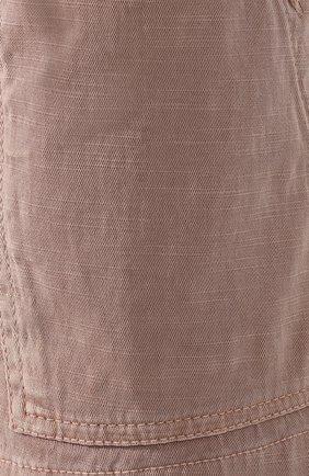 Женские хлопковые шорты JAMES PERSE розового цвета, арт. WACS4271 | Фото 5 (Женское Кросс-КТ: Шорты-одежда; Длина Ж (юбки, платья, шорты): Мини; Материал внешний: Хлопок; Стили: Спорт-шик)