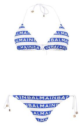 Женский раздельный купальник BALMAIN синего цвета, арт. BPB810210 | Фото 1