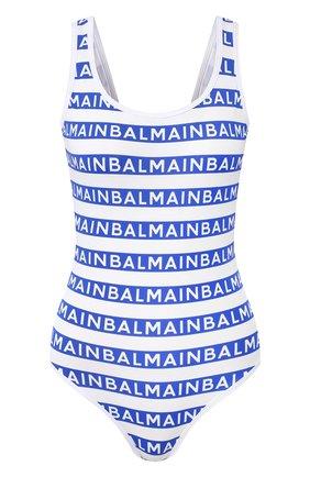 Женский слитный купальник BALMAIN синего цвета, арт. BPBU00210 | Фото 1