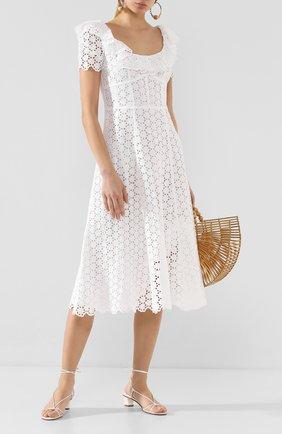 Женское льняное платье POLO RALPH LAUREN белого цвета, арт. 211793010 | Фото 2