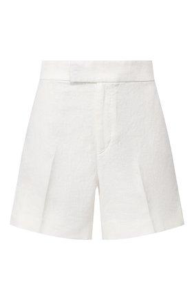 Женские льняные шорты POLO RALPH LAUREN белого цвета, арт. 211793204 | Фото 1