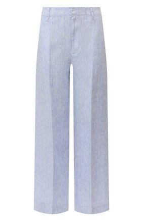 Женские льняные брюки POLO RALPH LAUREN голубого цвета, арт. 211793258 | Фото 1