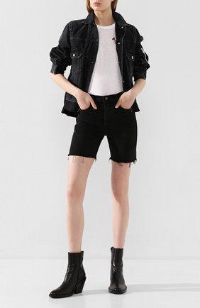 Женские джинсовые шорты GRLFRND черного цвета, арт. GF43609461319 | Фото 2