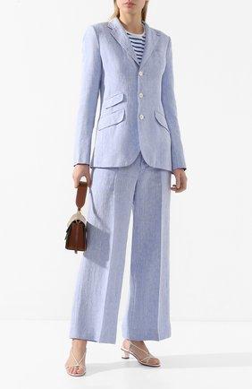 Женский льняной жакет POLO RALPH LAUREN голубого цвета, арт. 211793237 | Фото 2