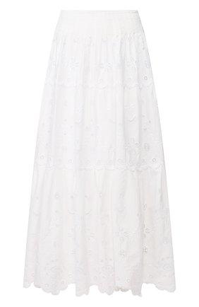 Женская хлопковая юбка POLO RALPH LAUREN белого цвета, арт. 211793016 | Фото 1