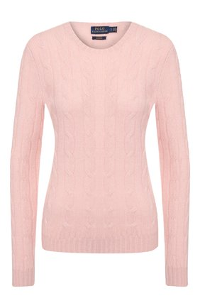 Женская кашемировый пуловер POLO RALPH LAUREN розового цвета, арт. 211780379 | Фото 1