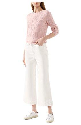 Женская кашемировый пуловер POLO RALPH LAUREN розового цвета, арт. 211780379 | Фото 2
