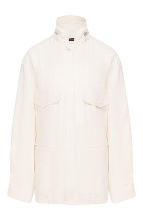 Женская куртка из смеси шелка и льна Y`S черно-белого цвета, арт. YN-Y42-430 | Фото 1