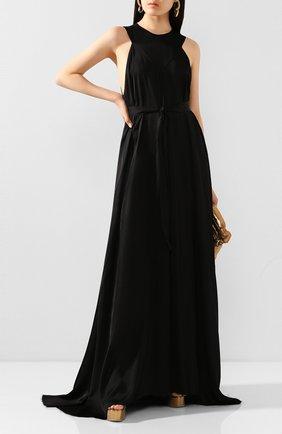 Женское платье-макси ANN DEMEULEMEESTER черного цвета, арт. 2001-2350-P-126-099   Фото 2