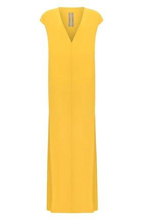 Женское платье-макси RICK OWENS желтого цвета, арт. R020S1590/CC | Фото 1