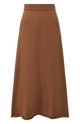 Женская кашемировая юбка EXTREME CASHMERE коричневого цвета, арт. 138/MIDI | Фото 1