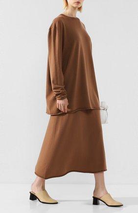 Женская кашемировая юбка EXTREME CASHMERE коричневого цвета, арт. 138/MIDI | Фото 2