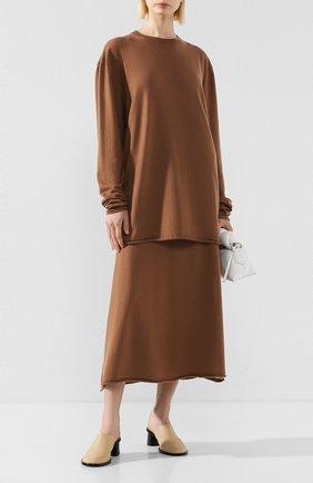 Женский кашемировый свитер EXTREME CASHMERE коричневого цвета, арт. 136/HEIN | Фото 2