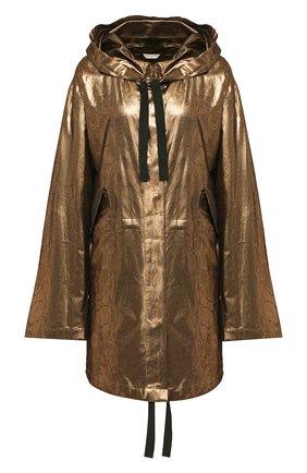 Женский шелковый плащ DRIES VAN NOTEN бронзового цвета, арт. 201-10236-9366 | Фото 1