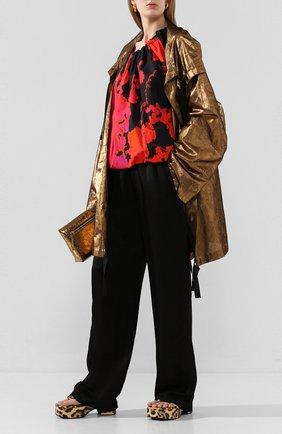 Женский шелковый плащ DRIES VAN NOTEN бронзового цвета, арт. 201-10236-9366 | Фото 2