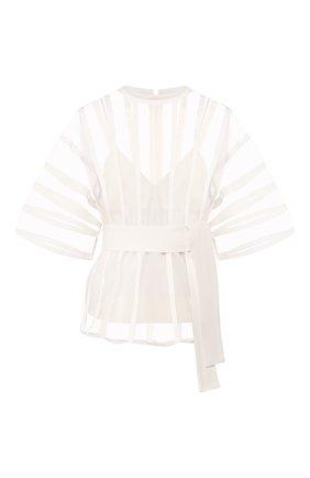 Женская шелковая блузка AKIRA NAKA белого цвета, арт. AS2067-0W | Фото 1