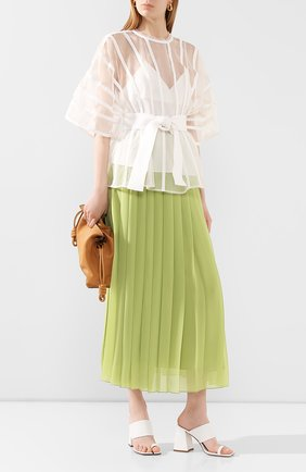 Женская шелковая блузка AKIRA NAKA белого цвета, арт. AS2067-0W | Фото 2