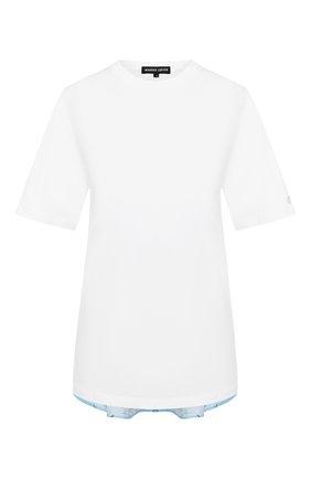 Женская хлопковая футболка MARKUS LUPFER белого цвета, арт. TEE376 | Фото 1