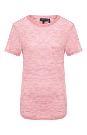 Женская шерстяная футболка THEORY розового цвета, арт. J1021508 | Фото 1