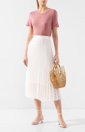 Женская шерстяная футболка THEORY розового цвета, арт. J1021508 | Фото 2