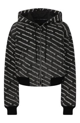 Женский джинсовый бомбер DENIM X ALEXANDER WANG черно-белого цвета, арт. 4D992394CG | Фото 1