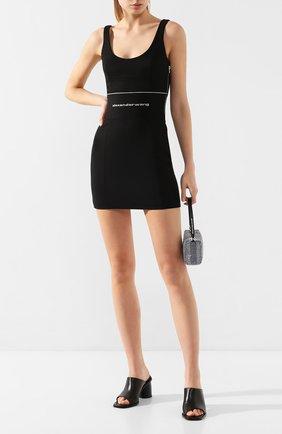 Женское платье ALEXANDER WANG черного цвета, арт. 1WC1206295 | Фото 2