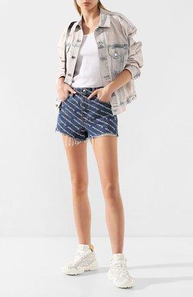 Женская джинсовая куртка DENIM X ALEXANDER WANG розового цвета, арт. 4DC1202584 | Фото 2