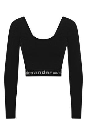 Женская лонгслив ALEXANDERWANG.T черно-белого цвета, арт. 4KC1201072 | Фото 1