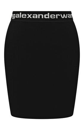 Женская мини-юбка ALEXANDERWANG.T черно-белого цвета, арт. 4KC1205072 | Фото 1