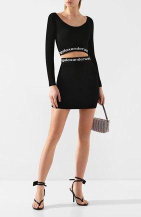 Женская мини-юбка ALEXANDERWANG.T черно-белого цвета, арт. 4KC1205072 | Фото 2