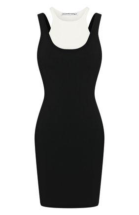 Женское платье ALEXANDERWANG.T черно-белого цвета, арт. 4KC1206005 | Фото 1