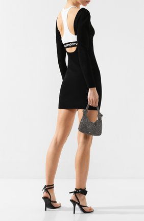 Женское платье ALEXANDERWANG.T черно-белого цвета, арт. 4KC1207073 | Фото 2