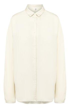Женская шелковая рубашка TOTÊME белого цвета, арт. BENICIA 201-703-716 | Фото 1