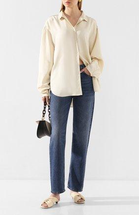 Женская шелковая рубашка TOTÊME белого цвета, арт. BENICIA 201-703-716 | Фото 2