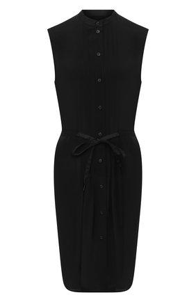Женское шелковое платье RAG&BONE черного цвета, арт. WAW20S30127D12   Фото 1