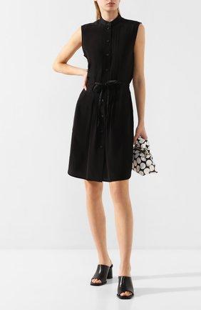 Женское шелковое платье RAG&BONE черного цвета, арт. WAW20S30127D12 | Фото 2