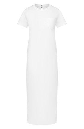 Женское хлопковое платье SACAI белого цвета, арт. 20-04880 | Фото 1