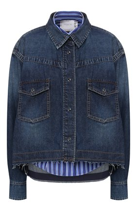 Женская джинсовая куртка SACAI синего цвета, арт. 20-04932 | Фото 1