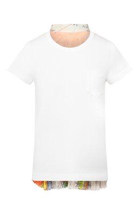 Женская футболка SACAI белого цвета, арт. 20-04997 | Фото 1
